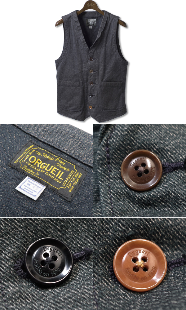 ORGUEIL Denim Gilet